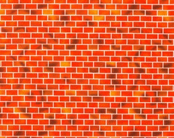 Red Brick by Brick Fabric - 100% Cotton Quilting Apparel Crafts Home decor