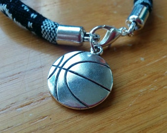 Bracciale cesto bangle cesto, polsino cesto, bracciale sport, polsino sport, cordone bracciale, bracciale palla, bracciale basket, bracciale di basket