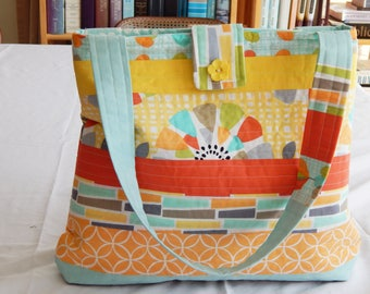 Quilted Tote Bag with Matching Wallet