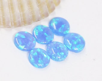 Opals, Lab Created Opals, 12 Opals, Loose Opals, 4 mm, Blue Opals, Small Opals, Loose Gemstones, Round Opals, Jewelry Making, Opal