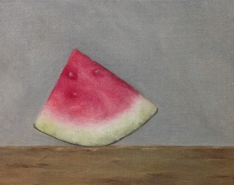 """Oil painting: Watermelon 6x4"""""""