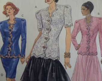 PRINCESS SEAM TOP Pattern • Vogue 8228 • Miss 12-16 • Yoked Skirt • Mother of Bride • Sewing Pattern • Womens Patterns • WhiletheCatNaps