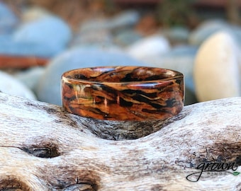 Custom Douglas Fir ring with 24k Gold Vein