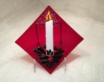 Christmas candle plate