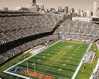 Soldier Field Chicago Bears Gallery Wrapped Canvas Print
