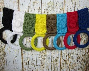 Kitchen Towel holder, Pick your color, Kitchen Crochet Dish Towel holder,  bathroom handtowel holder, Kitchen gift item, crochet gift item