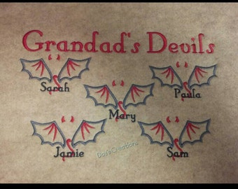 Grandparent embroidered sweatshirt - Grandad's Devils crew neck embroidered sweatshirt - custom grandparent embroidered sweatshirt