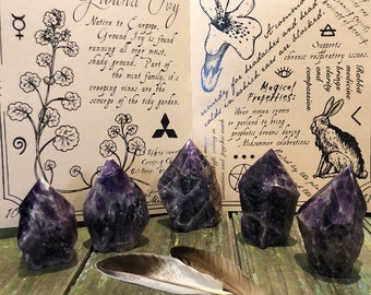 Amethyst Point/ Amethyst Generator/ Third Eye Chakra/ Crystal Healing / Healing Stone/ Ceremony Tool /Magic/ Altar/ Grid