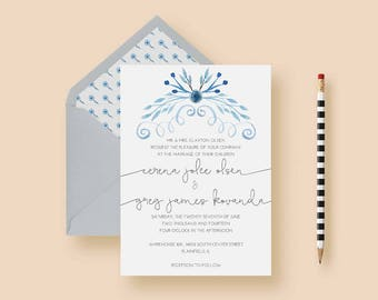 Rustic Modern Wedding Invitation Set - Rustic Modern Wedding Invitations - Rustic Modern Invite - Printable or Printed