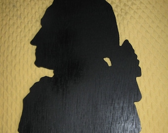 Bust of Louis XVI, wooden wall decoration