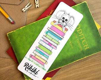 Illustrated 6x18 cm Paper Bookmark