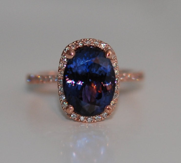 blue rings celtic ltd engagement ring tanzanite fotla