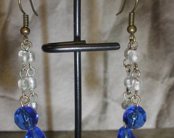 Upcycled/Recycled Victorian Inspired Antique Vintage Jewelry - Blue