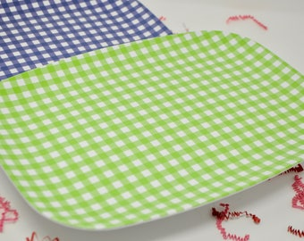 Personalized Monogrammed Melamine Gingham Platter