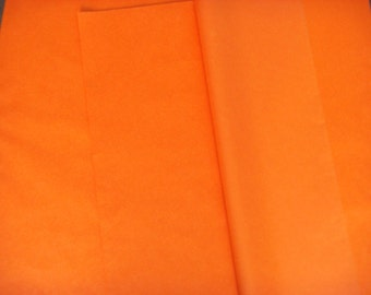 Pack of 5 sheets of silk Orange carrot size 50 cm * 75 cm