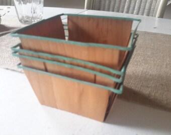 Four Vintage Berry Baskets