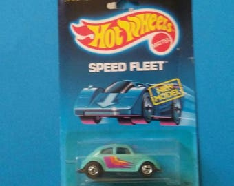 Hot Wheels VW Bug Speed Fleet new on card