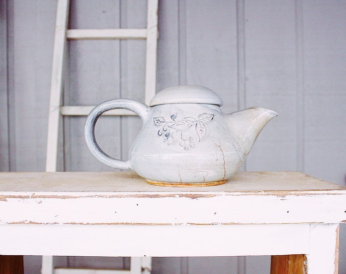 Vintage Clay Teapot // Farmhouse Collectible