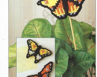 Butterfly Magnets Plastic Canvas Pattern, Kitchen Decor, Fridgies, Home Decor, Plant Poke, Annie's