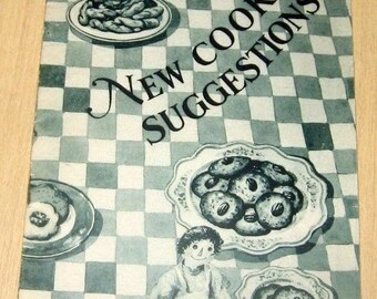 Vintage 1928 New Cooking Suggestions Promotional Cookbook Proctor & Gamble