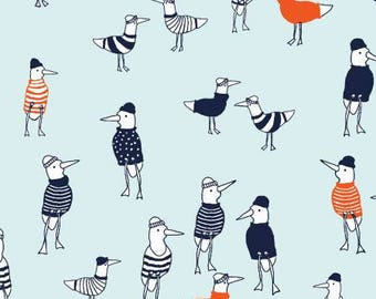 Dear Stella Blue Nautical Quilt Fabric Quilting Sewing Cotton Ocean Quilts Fabrics Seagulls Birds ST-823AQU