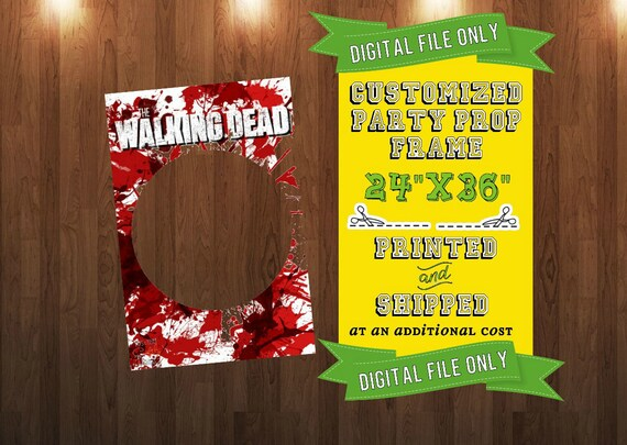 Customized The Walking Dead Party Prop Frame from ThisnThatCraftly ...