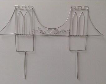 Brooklyn Bridge Wedding Cake Topper: BRIDGE of LOVE