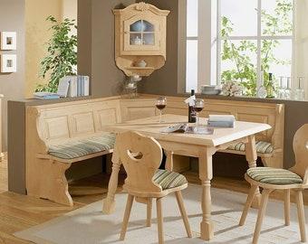 Landau Breakfast Nook Set with 4 Legged Table