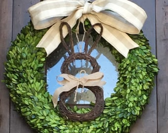 Easter Boxwood Wreath 24 inch