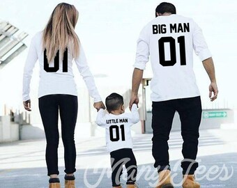 Big man little man big man little man sweatshirts father and son matching  father and son gifts father and son outfit dad and son gift shirt