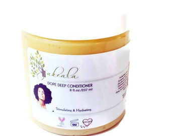 Deep Conditioner Ginger Mustard Seed Avocado Palm Oil - Natural Hair Care Conditioner Relaxed Dope