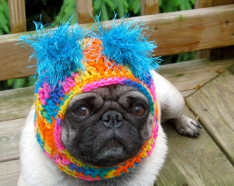 Dog Hat - Clown Happy/ Made to Order