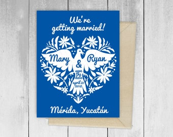 Otomi Colores Fiesta Wedding Design Invitation