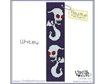 Whitey - Peyote Bracelet Pattern  - INSTANT DOWNLOAD pdf - Save when you buy more