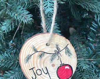 "Hand painted ""Joy"" Ornament"