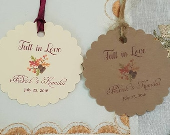 """Personalized Favor Tags 2.5"""", Wedding tags, Thank You tags, Favor tags, Gift tags, Bridal Shower Favor Tags, fall wedding favor tag"""