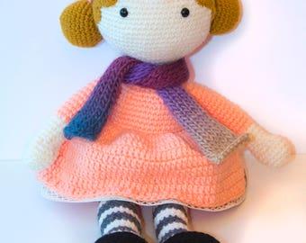 Handmade Crochet Doll, Handmade Dolls, Christmas Gift ideas, Amigurumi, Rag dolls, Dolls for Children, Crochet Dolls, Dolls for Girls