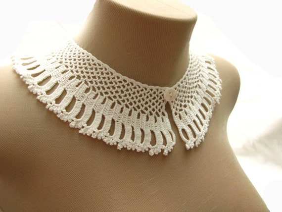 Pdf Tutorial Crochet Pattern Lace Peter Pan Collar 2 From
