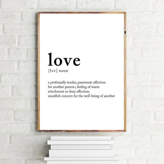 What Meaning Of Love: Love Definition Love Meaning Love Posters Noun