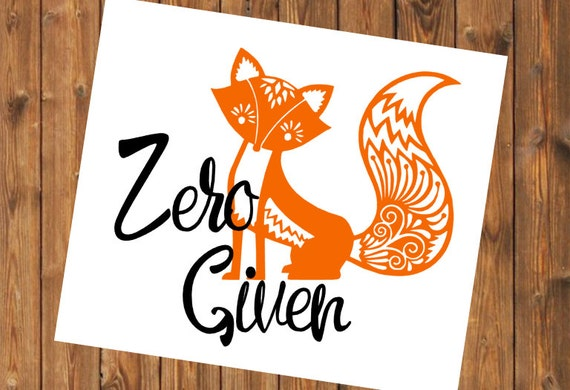 Free Shipping-Zero Fox Given Decal, Yeti RTIC Cup Decal Sticker, Mandala Fox, Car Window Decal, Laptop Fox Sticker Decal, Personalized Decal