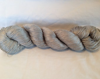 Silver Grey Vintage Japanese Silk Thread with Natural Dyes ( Silk 5)