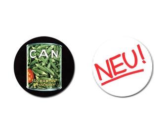 SET OF 2 Krautrock Badges (1 inch) Can Neu!