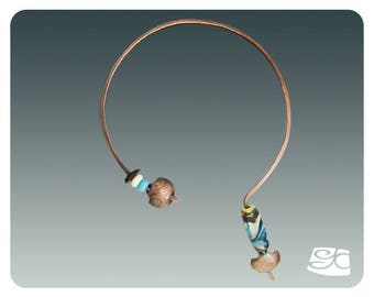 Simple Forged Neck Wire for Large Focal Bead DIY  PDF Tutorial