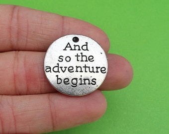 """5 """"And so the Adventure Begins"""" Charms (CH220)"""