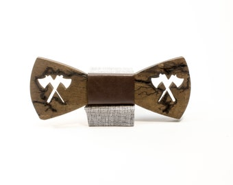 wooden bow tie, wood bow tie, wood bowtie, Tie Accessories, personalized bow tie,wedding bow tie handmade wood bow tie,ax bow tie, fractal