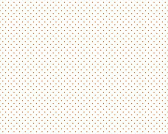 NEW -- Orange Swiss Dot on White Yardage C660-60 Orange  by Riley Blake Designs