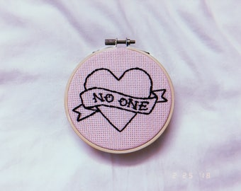 Heart Banner Embroidery Hoop