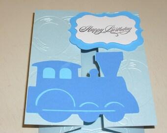 Happy Birthday Accordion Card For Little Boys