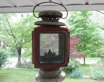 Small Kerosene/ Alcohol/ Oil Lantern - Hanging Lantern - Rustic Decor - Yard Ornament