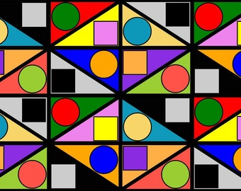 2-D Euclidean Shapes 881: Mexican Motif (# ES_881_LP)